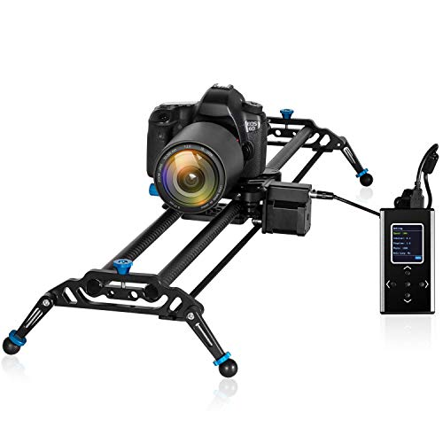 GVM Camera Slider, 31 Inches Electronic Motorized Timelapse Camera Dolly Rail Slider with Controller for Video Film Photography, Load up to 15.4lbs