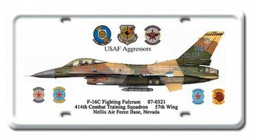 F-16C FIGHTING FULCRUM LICENSE PLATE Fighting Fulcrum