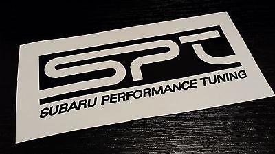 (2 SPT Subaru Performance Tuning Vinyl Sticker Decal JDM WRX STI Impreza Rally)