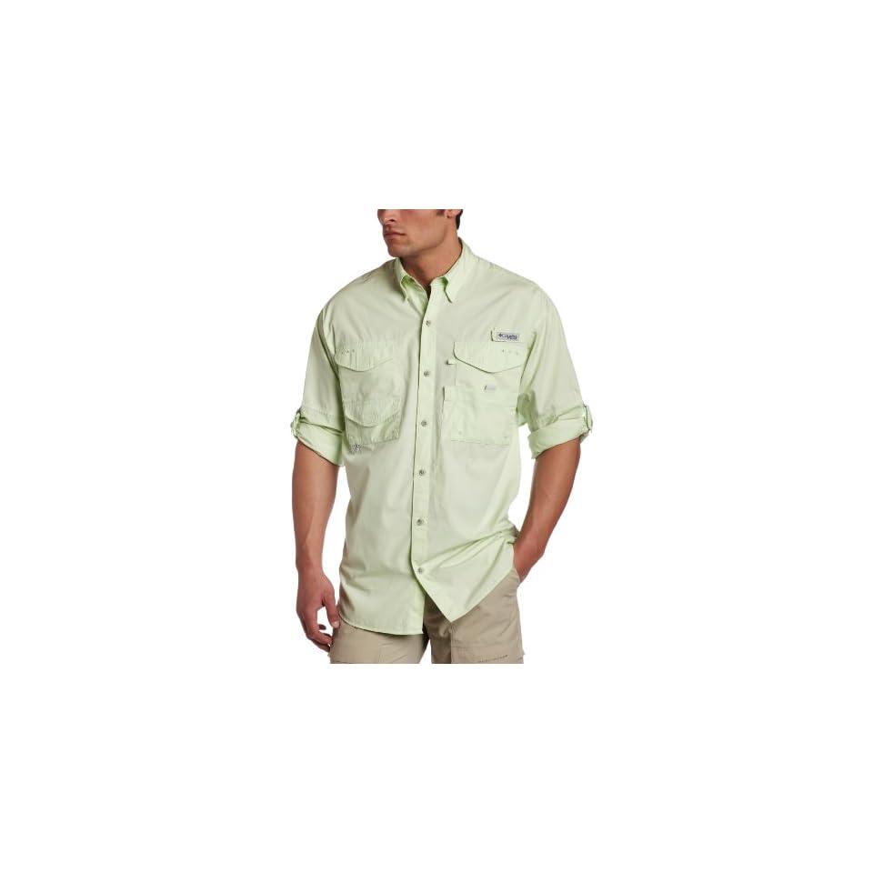Columbia Sportswear Mens Bonehead Long Sleeve Shirt (Medium, Light Lime)