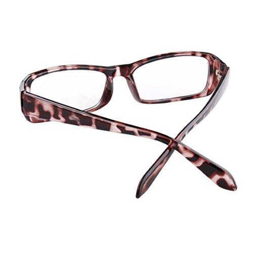 de azul Anti Gafas Hombre fatiga UV400 Lente Computadora Moda Mujer Leopardo los Eyewear Claro ojos Xinvision Previniendo Filtro luz IEpq1