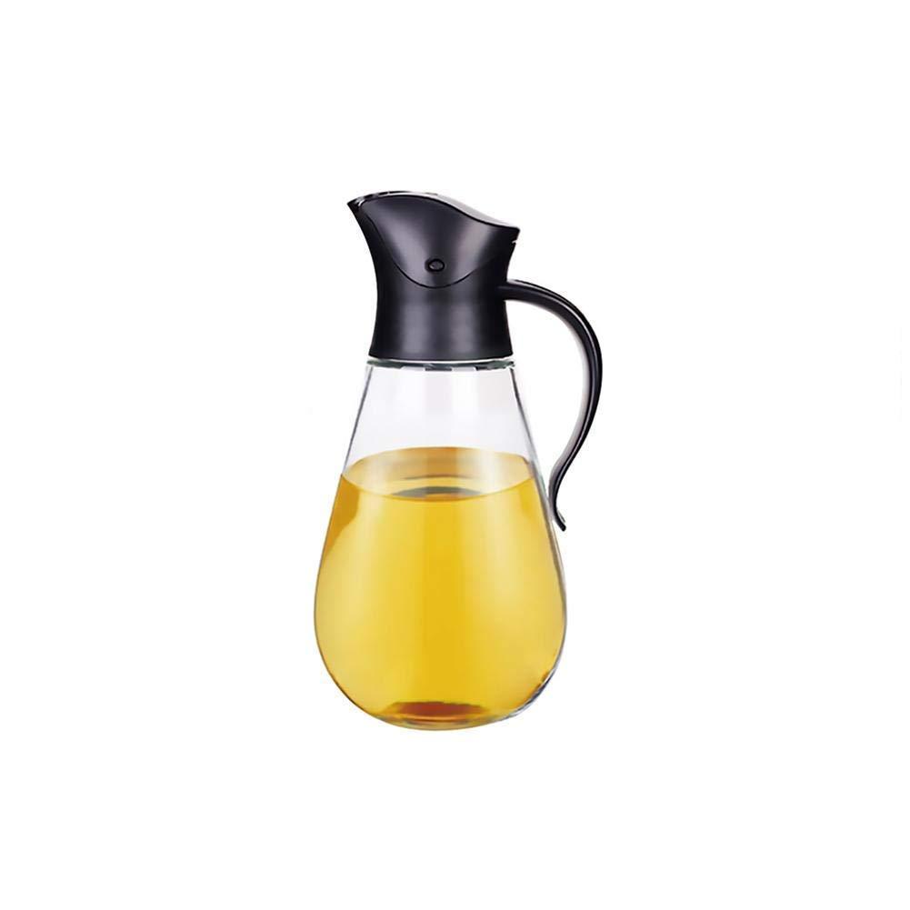 El pote de cristal claro del aceite de oliva del pote del aceite 550ML no se escapa con el interruptor automático, botella de condimento de la botella del vinagre de la botella de la salsa de soja MINGLE