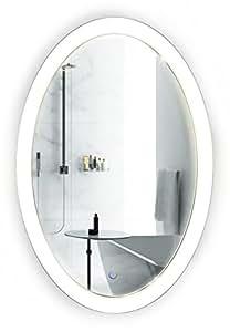 Krugg oval led bathroom mirror 20 inch x 30 - Large horizontal bathroom mirrors ...