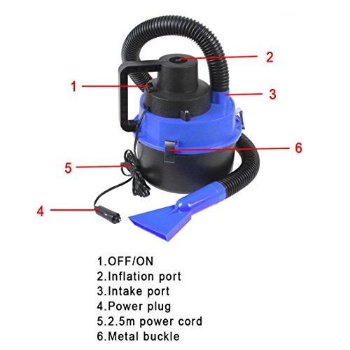 Ikevan Vacuum Cleaners, Hot Sale 12V Wet Dry Car Vacuum Cleaner Portable Handheld Van Cigarette Lighter by Ikevan (Image #6)