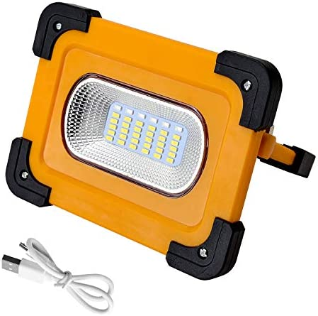 30W Portable LED Work Light, Rechargeable Work Light 1500LM, Waterproof COB Flood Light 6000mAh Power Bank with Magnetic Base for Car Reparing, Camping, Hiking, Emergency Use