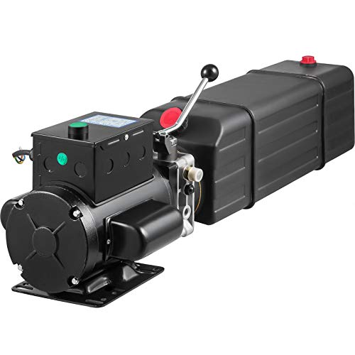 Mophorn Hydraulic Pump 4.0 Gallon Hydraulic Motor Hydraulic Lift Single Phase Car Lift 3450 RPM Dump Trailer 208-230 Volt Portable Car Lift 2 Horsepower Auto Lift Vehicle Lift Portable Power Press