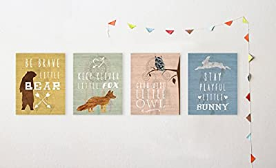 "Woodland Nursery, Collection Inspirational Animals 8x10"" Print, Nursery Decor, Kids Decor, Animals Decor for Kids, Motivational Art, Inspirational Art"