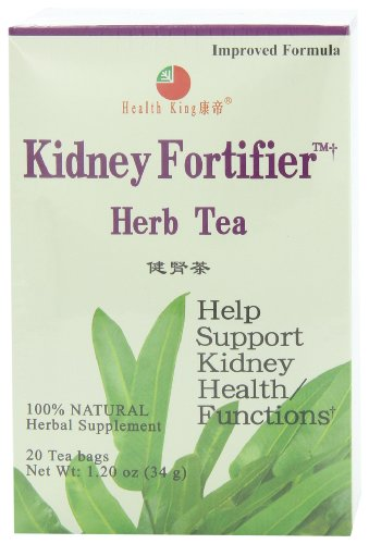Health King Kidney Fortifier Herb Tea, Teabags, 20 Count Box