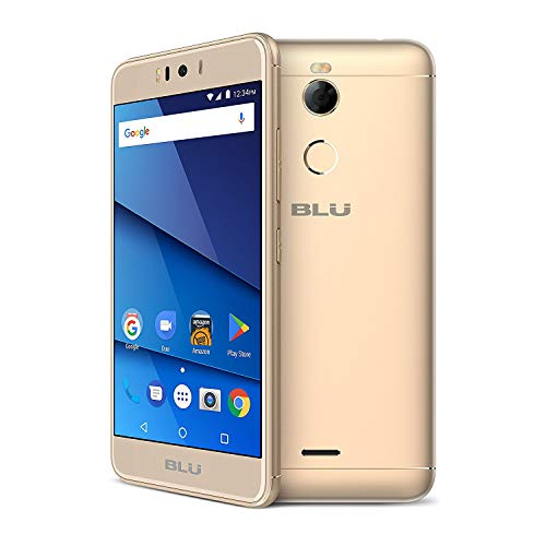 "BLU R2 R0172WW 5.2"" GSM Unlocked 32GB - 2GB RAM Dual Sim 4G LTE 13MP Android (Gold)"