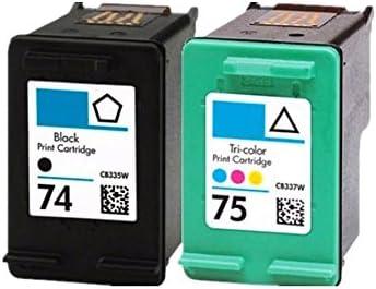 caidi 2pk compatible HP 74 X L 75 x l Cartuchos de Tinta ...