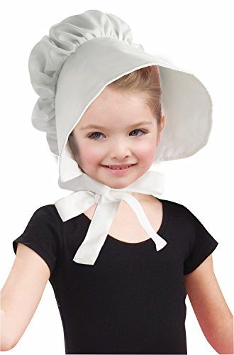 Forum Novelties Child Colonial Bonnet Hat, White ()