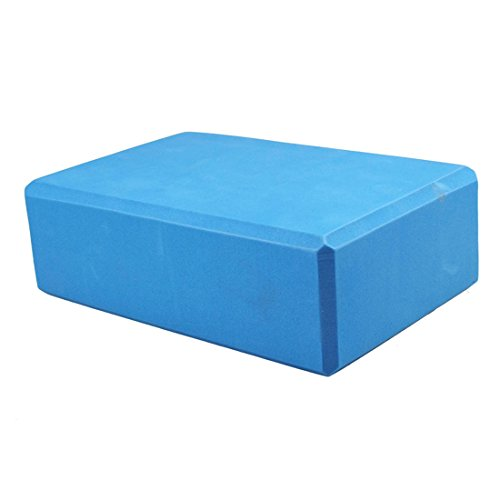 Bestpriceam Cuboid EVA Yoga Block Brick Sports Exercise Fitness Gym Workout Stretching (Blue)