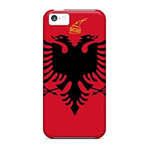 Durable Hard Phone Cases For Apple Iphone 5c With Support Your Personal Customized Fashion Albania Flag Skin MarcClements