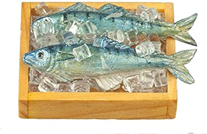 3 Fish in Set Dollhouse Miniature Fish Adorable 1:12 Scale