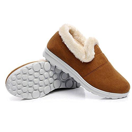 Neige Au Jaune De Hiver Bozevon Boots Bottes Garder Bottillons Chaud Femme Plat Chaussures qfxzRX