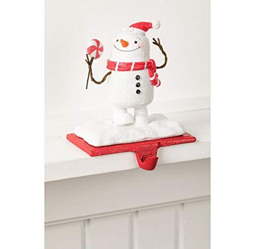 Christmas Stocking Hangers, Snowman Mantel Hook (Snowman with Lollipop)