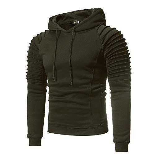 Verte Automne À Shirt Armée Aimee7 Slim Casual Tops Mode T Classique Hommes Hauts Capuche XwOwSIqU