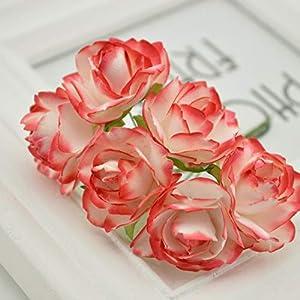 Vivavivo1234 Wreath Material Artificial Flowers Paper Rose Artificial Flowers Scrapbooking for Wedding Car Decoration Handicraft 5 9