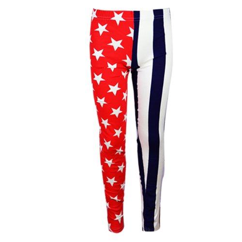 FAST TREND CLOTHING Fille «California 56 Athletic Sports Team Flag Patriotique de Sport Motif étoile/Union Jack-Caleçon Haut Chemises Ans 7–13 Ans