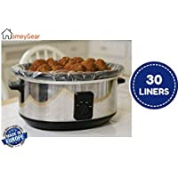 """30 pk Large Crock Pot & Slow Cooker Liners - 22""""x12"""" 3 to 7 Quart Easy Clean Up Plastic Bags for Crockpot, Aluminum Cooking Trays, Pans - Non-Stick & Oven/Microwave Safe - by HomeyGear"""