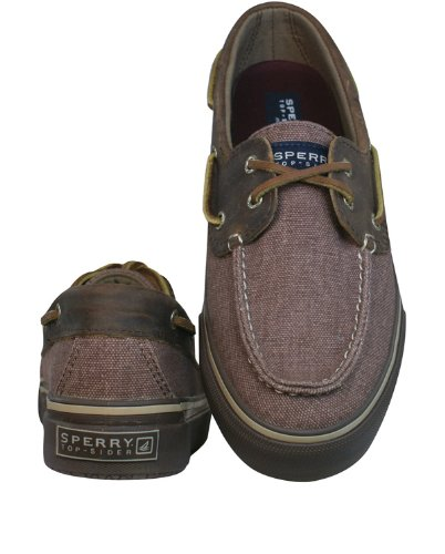 Sperry Top Sider Heren Bahama Heavy Canvas Fashion Sneaker Bordeaux Rood / Donkerbruin