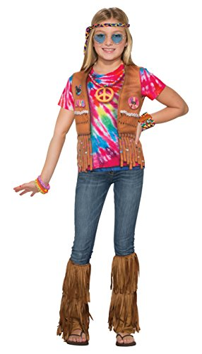 [Forum Novelties Kids Hippie Costume, Multicolor, Large] (Tie Dye Dress Costume)