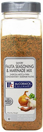 McCormick Savory Fajita Seasoning & Marinade Mix, 24-Ounce Plastic Bottle by McCormick