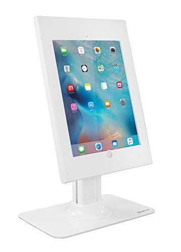 Mount-It! Anti-Theft iPad Pro Kiosk Mount - Secure iPad Pro POS Stand, Rotating Tablet Enclosure Stand, iPad Pro 12.9 Desk Mount, Tilting iPad Pro Counter Stand for iPad Pro 12.9 White MI-3771W-XL (Ipad Kiosk Desk Stand)