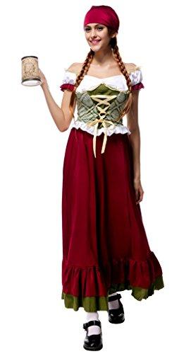 Smile YKK Femme Cosplay Pour le fête de Bière Costume Bavière Halloween Déguisement