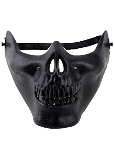 Zando Halloween Costume Funny Fancy Cosplay Stage Play Party Club Creepy Mask Style 1 Ghost Mask (Easy Homemade Cowboy Costumes)