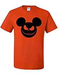 Mickey Grinning Jack O Lantern | Mens Halloween Tee Graphic T-Shirt