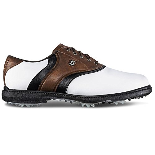 FootJoy FJ Originals Golf Shoes (10, White/Brown-M)