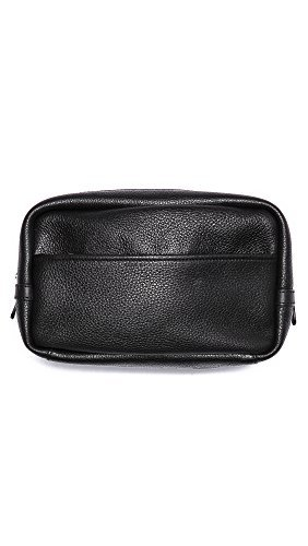 Marc by Marc Jacobs Men's Leather Travel Kit, Black, One Size