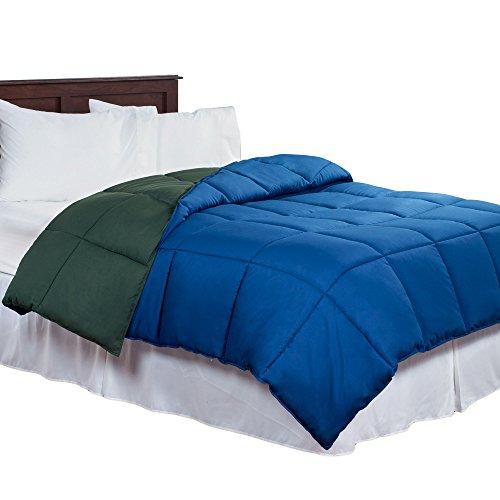 Bedford Home Reversible Down Alternative Comforter, Queen, D