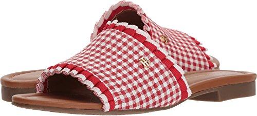 Sandals Red Tommy Women's Scallop Hilfiger Plaid Slide nUfUqIxXg
