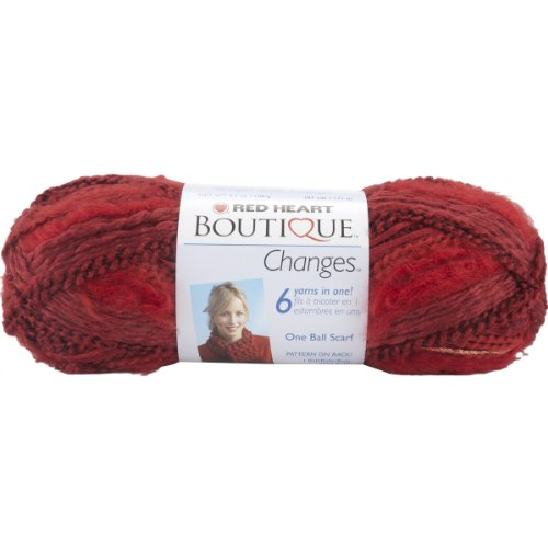 Coats yarn Red Heart Boutique Changes Yarn, Ruby (Christmas Bayside)