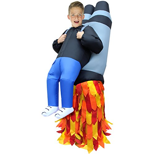 Morph MCKROIJP Boys Inflatable Costume, One - Child Jet Pack Backpack