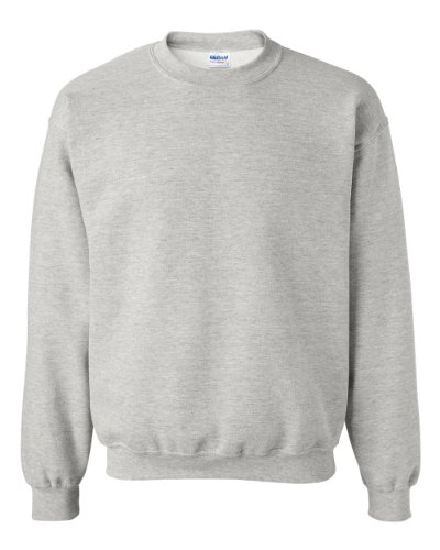 Gildan Heavy Blend Crewneck Sweatshirt, Ash Grey, L by Gildan