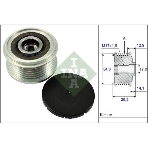 INA Over Running Alternator Pulley 535026410: