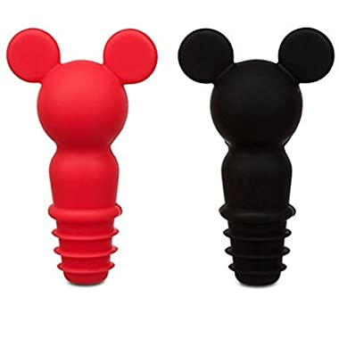 Disney Parks Mickey Mouse Icon Silicone Bottle Wine Stopper Set of 2