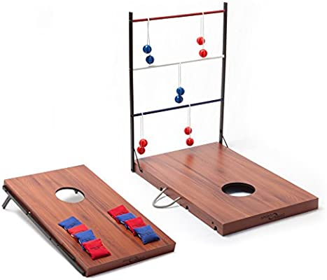 Groovy Sport Squad 2 In 1 Bean Bag Cornhole And Ladder Toss Game Set For Indoor Or Outdoor Use Ncnpc Chair Design For Home Ncnpcorg