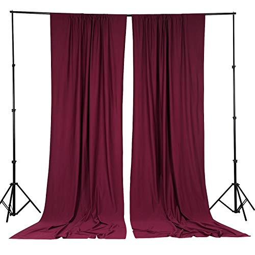 - BalsaCircle 10 ft x 10 ft Burgundy Polyester Photography Backdrop Drapes Curtains Panels - Wedding Decorations Home Party Reception Supplies
