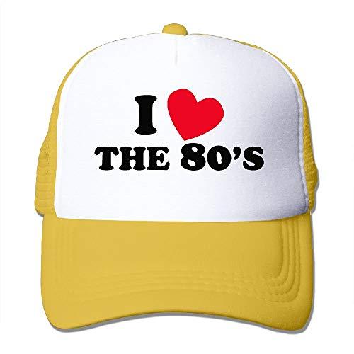 Yutrepler I Love The 80S Mesh Hat Unisex Trucker Caps Mesh Back Cap Hat Sport