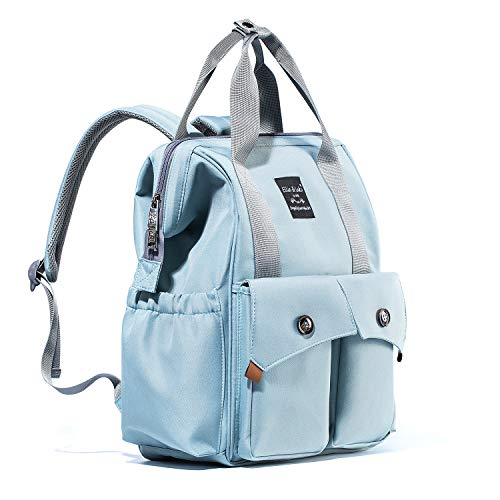 Catlin Go Go Diaper Bag Backpack Multi-Function Waterproof for Girl and Boys Large Capacity Stylish Durable and Insulated (Blue)