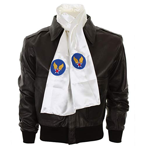 - WW2 US Army Air Forces USAAF Pilots Scarf in White