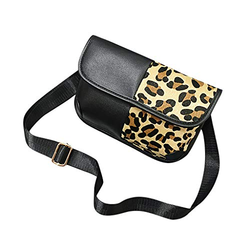 CHLZYD Shoulder Bags Fashion Women Leopard Patchwork Color Shoulder Bags Messenger Soft Phone Bag - Patchwork Messenger