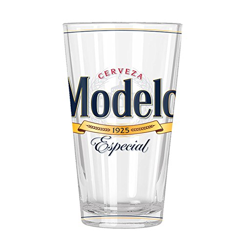 Silver Buffalo MOD20166 Modelo Label Pint Glass, 16-oz, Multicolor