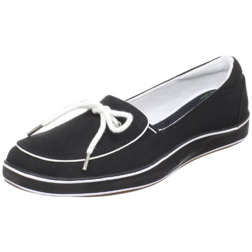 Grasshoppers Women's Highview Slip-On Loafer,Black Canvas,5.5 M (Grasshoppers Canvas)