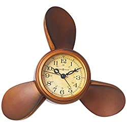Howard Miller 645-525 Propeller Alarm Weather & Maritime Table Clock