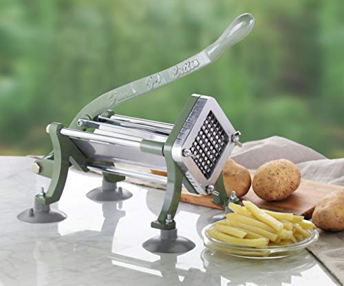 New Star Foodservice 43204 Commercial Grade French Fry Cutter With Suction Feet,